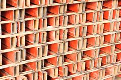 Obsoleted pipes. Obsoleted steel pipes at warehouse Stock Images