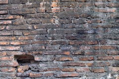 Obsoleted Stary ściana z cegieł obraz stock