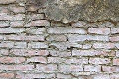 Obsoleted Stary ściana z cegieł zdjęcie stock