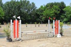 Obstáculo de la equitación Foto de archivo