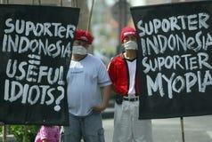 OBSTÁCULO DEMOCRÁTICO S DE INDONESIA imágenes de archivo libres de regalías
