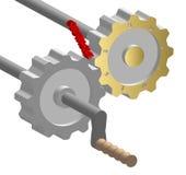 Obstáculo no mecanismo do negócio Imagens de Stock