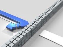 Obstáculos al curso La flecha da vuelta detrás Representa el abandono ilustración del vector