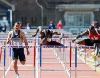 obstáculos de 110 medidores nos relés 2011 de Penn Fotos de Stock Royalty Free