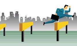 Obstáculos do negócio ilustração do vetor