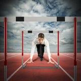 Obstáculos na estrada do negócio Fotografia de Stock Royalty Free