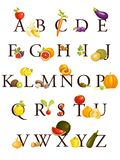 Obst- und Gemüse Alphabet Lizenzfreies Stockbild