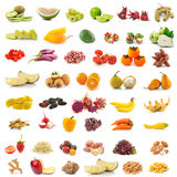 Obst und Gemüse auf weißem Hintergrund Lizenzfreie Stockbilder