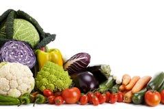 Obst und Gemüse lokalisiert Stockfotografie