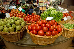 Obst- und Gemüse Markt in Funchal Stockfotografie