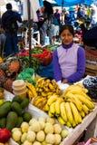 Obst und Gemüse am Markt, Peru stockfotos