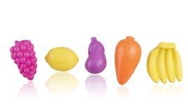 Obst und Gemüse Plastikspielwaren stockfoto