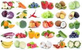 Obst- und Gemüse Sammlung lokalisierte orange Banane GR des Apfels Stockfoto