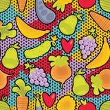 Obst und Gemüse und Herzen. lizenzfreie abbildung