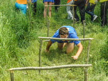 The obstacle course at a tourism Convention in the Kaluga region of Russia. In Russia there is an annual tradition for sports tourism events for students. They royalty free stock photography