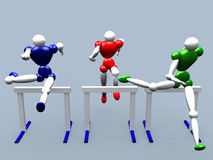 Obstacle Jumpers vol 2. 3d (Athlet) Obstacle Jumpers Royalty Free Stock Images