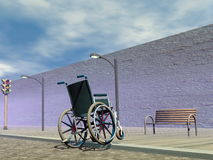 Obstacle for wheelchair - 3D render Royalty Free Stock Images