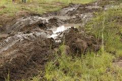 obstacle 4x4 boueux à la voie de Leroleng 4x4 Images libres de droits
