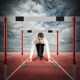 Obstacles on the business road Royalty Free Stock Photography
