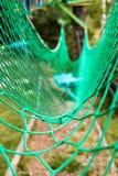 Obstacles de franchissement nets de pont de parc de corde Photos libres de droits