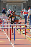 Obstacles des dames 100m - Penn transmet par relais 2011 Images libres de droits