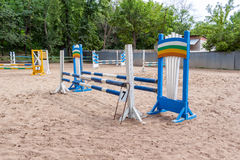 Obstacles for horse jumping event Royalty Free Stock Photography