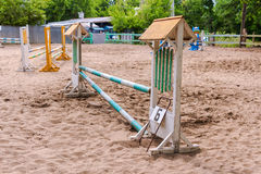 Obstacles for horse jumping event Royalty Free Stock Photos