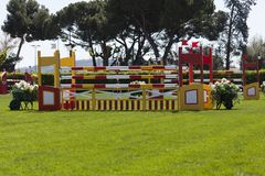 Obstacles in jumps race Stock Image