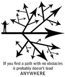 Obstacles vector illustration