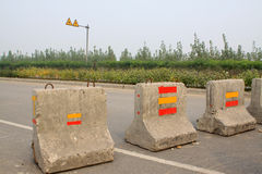 Obstacles on the road Royalty Free Stock Photos