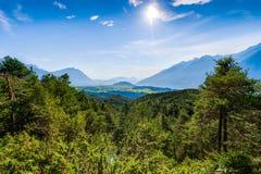 Obsteig in Sonnenplateau, Austria Immagini Stock