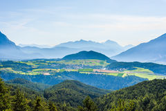 Obsteig in Sonnenplateau, Austria Immagini Stock Libere da Diritti