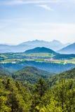 Obsteig in Sonnenplateau, Austria Fotografie Stock