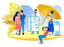 Obstetricia del seguro médico del ejemplo del vector ilustración del vector
