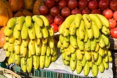 Obstmarkt in Mapusa Stockbild