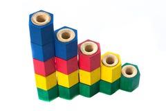 Obstrução colorida da madeira Imagem de Stock Royalty Free