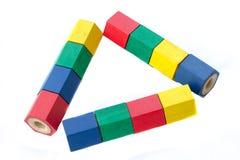 Obstrução colorida da madeira Imagens de Stock Royalty Free