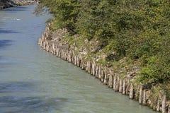 Obstrução do rio no Grossache foto de stock