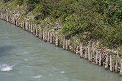 Obstrução do rio no Grossache fotos de stock