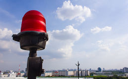 Obstruction light on rooftop Royalty Free Stock Images