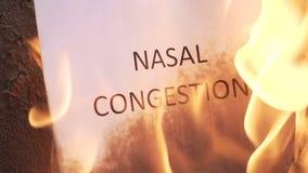 Obstruction nasale flamboyante de mot clips vidéos