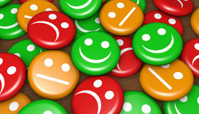 Obsługi Klienta informacje zwrotne Szczęśliwa ocena Obraz Stock