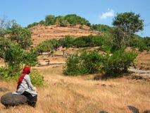 obszarów wiejskich azjatykcia kobieta Zdjęcie Stock