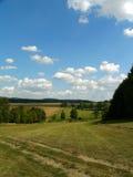 obszarów wiejskich zieleń pól obrazy stock