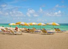 obszar lounge na plaży Zdjęcia Stock