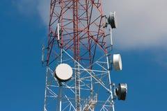 obszar miasta dmitrov nocy Moscow tower telekomunikacyjnych zimy Fotografia Stock