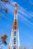obszar miasta dmitrov nocy Moscow tower telekomunikacyjnych zimy Zdjęcia Royalty Free