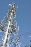 obszar miasta dmitrov nocy Moscow tower telekomunikacyjnych zimy Obrazy Stock