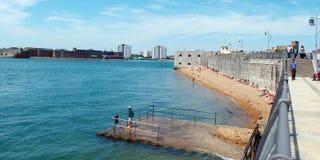 Obszar przybrzeżny Stare Portsmouth gorące ściany Fotografia Royalty Free
