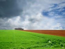 obszar rolnictwa w kształcie Obraz Royalty Free